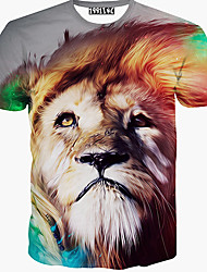 T-Shirts ( Coton mélangé ) Informel Rond à Manches courtes