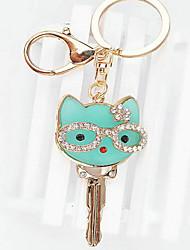 Cat Rhinestone Wedding Keychain Favor