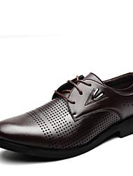 Men's Shoes Wedding Faux Leather Oxfords Black/Brown