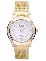 Unique Bilateral Mesh Bag Alloy Watch For Women(Gold)(1Pc)