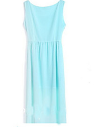 Women's Beach Dress Above Knee Sleeveless Green Summer