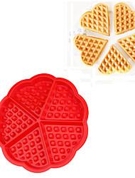 5 Cavity Mini Fancy Bundt Waffles Cake Pan Silicone Mold Baking Mould (Random Color)