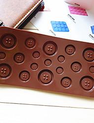 Кнопка в форме конфеты кекс выпечка плесень плесень (случайный цвет)
