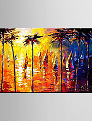 Oil Painting Forest Wood Tree Abstract Hand Painted Canvas with Stretched Framed