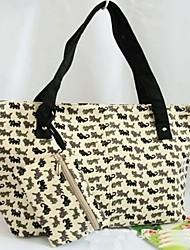 donne Canvas Handbag gatti litte frizione borsa