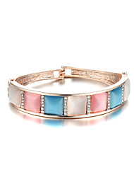 Sjewelry Girls Color Square Opal Gold-Plated Bracelet