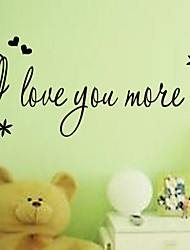 I Love You More Lovingwall Decal Zooyoo8178 Decorative Adesivo De Parede Removable Vinyl Wall Stickers
