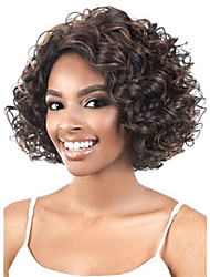 New arrival Short Curly  Heat Resistant Synthetic hair wigs for women Free shipping
