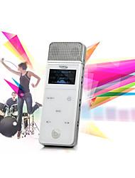 mini lecteur karaoké multifonctionnel avec une apparence de microphone délicate (karaoké / mp3 / enregistrement / fm / lecteur de cartes /