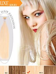 vor-verbundene i kippen / Stockspitze-Haarverlängerungen ty.hermenlisa 100% Remi Echthaar Haar russische Lichtfarbe