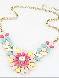 New Arrival Fashional Hot Selling Popular Gem Flower Necklace