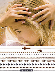 Sex Golden Chain Jewelry Bracelet Tattoo Stickers Temporary Tattoos(1 pc)