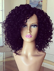glueless peruca cheia do laço 100% brasileira peruca de cabelo humano crespo encaracolado cor natural 8-16inch cabelo virgem