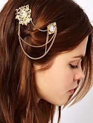 Eternal Fashion Gold Metal Pearl Headband Hair Band Hair Accessories(1 pc)