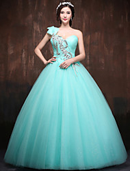 Formal Evening Dress Ball Gown One Shoulder Floor-length Satin/Tulle/Polyester