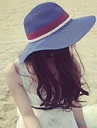 Women Cute/Casual Summer Fashion Bowknot Straw Floppy Hat
