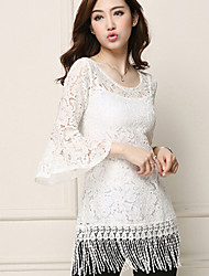 Women's Casual Lace Micro-elastic ¾ Sleeve Long(Lace)
