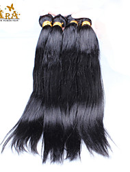 "4Pcs Lot 10-26"" Unprocessed Raw Peruvian Virgin Human Hair Yaki Straight Wave Color Natural Black Hair Bundles/Wefts"