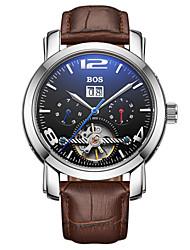 BOS Men's Mechanical Luxury Waterproof Bracelet Watch