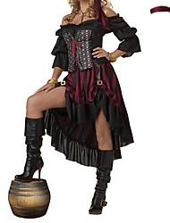Costumes - Pirate - Féminin - Halloween/Carnaval/Nouvel an - Robe/Casque/Ceinture