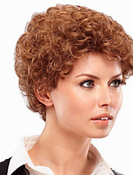 Europe And The United States  Sell Like Hot Cakes Flax Gold  Old Short Curly Wig