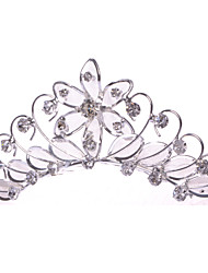 Fashion Alloy/Net Hair Combs With Rhinestone Wedding/Party Headpiece