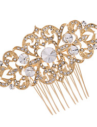 Women Wedding Bridal Hair Comb with Gold Rhinestone