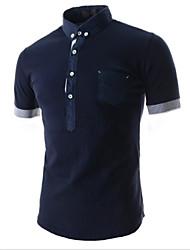 Informeel Shirt Kraag - MEN - T-shirts ( Canvas )met Korte Mouw