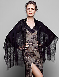 Wedding  Wraps Shawls Lace/Tulle Black/Pool/White(More Colors)