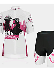 A Couple Of SPEED Women's Cycling Wear Short Sleeved Suit, Breathable Quick Dry Women's Bicycle Service
