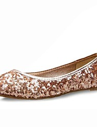 Women's Shoes Glitter Flat Heel Comfort Ballerina/Round Closed Toe Flats Wedding/Party & Evening/Casual Silver/Gold/Navy