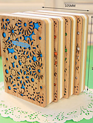 Wood Cover Note Book Special Style Notepad