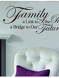 alinktopassed-familia, un futuro bridgetoour tatuaje de pared cotización zooyoo8025 vinilo removible etiqueta de la pared de bricolaje