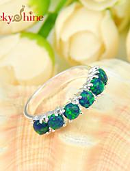 Anéis Cristal Prata Prata Unisexo