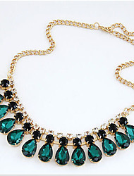 New Arrival Fashional Hot Selling Created Crystal Water Drop Necklace