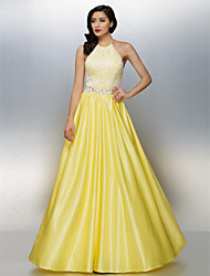 TS Couture® Dress Plus Size / Petite A-line Halter Floor-length Chiffon with Beading / Lace