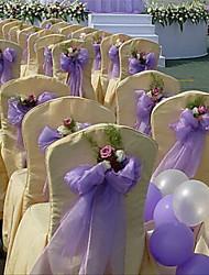 Decoración Ceremonia # Organza Decoración de Boda Única/Adornos