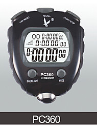 Electronic Stopwatch Timer PC360Three Row 60 Memory  Stopwatch Sports Timer With Pulp Frequency Function