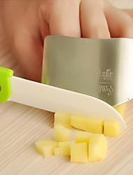 dedo cozinha de aço inoxidável guarda protetor de mão 6.5x4.5x2cm
