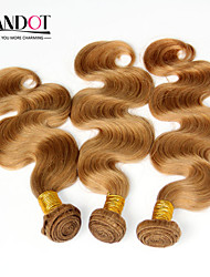 "3pcs 14-28 ""Cinderella hair extensions honing blonde brazilian body wave maagd remy human hair weave bundelt 7a kleur 27"