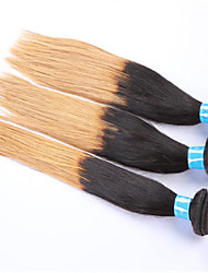 "grossista cabelo, 1b / 27 # de cabelo peruano extensões de cabelo ombre, ombre cabelo reto 8 ""-24"" 3pcs!"