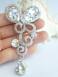 Wedding Accessories Wedding Deco Silver-tone Clear Rhinestone Crystal Bridal Brooch Bridal Bouquet Drop Wedding Brooch