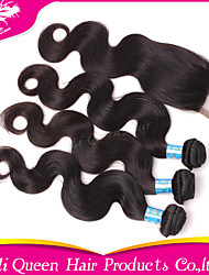 Ali Queen Hair Products 3Pcs 6A Peruvian Hair body wave With 1Pcs 4*4 Swiss Lace Closures 100% human hair