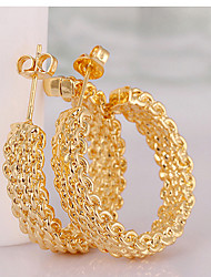 May Polly  Copper plated gold fashion net ear ring