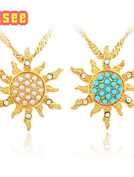Fashion Classical 18K Golden Plated with Imitation  Pearl Pendant Jewelry
