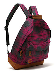 Unisex Purple grid couples backpack
