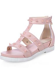 Women's Shoes Chunky Heel Gladiator Flats Dress Blue/Pink