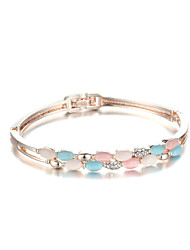 Sjewelry Girls Color Opal Rose Gold-Plated Bracelet