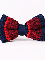 Blue And Red Stripe Knit The Bow Ties