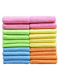 sinland ménages multi-usages chiffons de nettoyage en microfibre cuisine tissu avec des bandes de 12 pouces inchx12 20 Pack